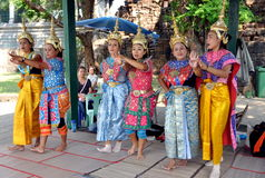 Lop Buri, Thailand: Khong Dancers Royalty Free Stock Images
