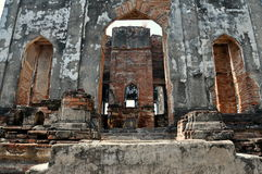 Lop Buri, Thailand: Phra Narai Ratcha Niwet. The majestic ruins of 1665 Chathara Phisa Hall, once a royal residence and later used as an audience hall by King Stock Photos