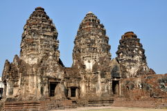 Lop Buri, Thailand: Wat Prang Sam Yot Stock Photo