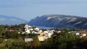 Lopar on the island of Rab view on the south side. Lopar is located on the island of Rab in the Kvarner Archipelago. It is one of the most beautiful and forested royalty free stock image