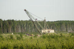 Lopatinsky mine. Dragline - single bucket excavator Stock Images