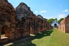 Lopburi 12月30日:Narai的Palace国王12月30,2015的在Muang Lopb 免版税库存照片