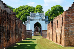 30 lopburi-Dec: Het Paleis van koningsnarai op 30,2015 Dec in Muang Lopb Royalty-vrije Stock Afbeeldingen