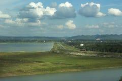 Lopburi Tailandia della diga del jolasid di Pasak Immagine Stock