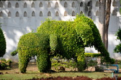 Lopburi, Thailand: Elepant Topiaries at Thai Wat Royalty Free Stock Photos