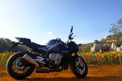 BMW S1000R 2015 Model. Lopburi,Thailand - January 6, 2018: The BMW S1000R is a naked bike motorcycle manufactured by BMW from 2014. Its aggressive engine with Stock Image