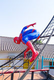 Lopburi, Thailand - January 2, 2015 : Spider-Man Web Crawler Mod. El against blue sky at Khrua Bannok stock image
