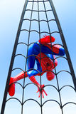 Lopburi, Thailand - January 2, 2015 : Spider-Man Web Crawler Mod. El against blue sky at Khrua Bannok stock photos
