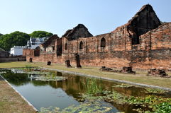 Lopburi, Thailand: Ruins of 13th Century Thai Wat Royalty Free Stock Photography