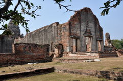 Lopburi, Thailand: Ruins of 13th Century Ubosot Royalty Free Stock Image
