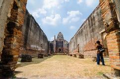 Lopburi, Thailand: Wat Phra Sri Rattana Mahathat. Royalty-vrije Stock Afbeeldingen