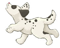 Lopend hondbeeldverhaal Royalty-vrije Stock Afbeeldingen