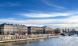Lopend langs de Zegen, Parijs. Royalty-vrije Stock Fotografie