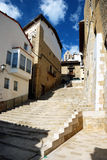 Lopend in Morella, Spanje Stock Fotografie