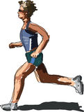 Lopende atleet Stock Foto