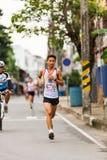 Lopende atleet in mini-marathonras Royalty-vrije Stock Fotografie