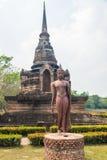 Lopende Boedha in Sukhothai Stock Fotografie