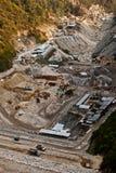 Lopende dambouw Stock Afbeelding