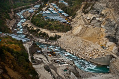 Lopende dambouw Stock Foto's
