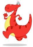 Lopende dinosaurus Royalty-vrije Stock Fotografie