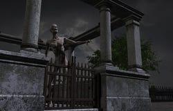 Lopende Dode Zombie Royalty-vrije Stock Foto's