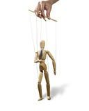 Lopende geïsoleerde marionet, Royalty-vrije Stock Foto's