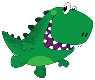 Lopende grappige Dino Stock Afbeelding