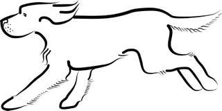 Lopende hond Vector illustratie Royalty-vrije Stock Afbeeldingen