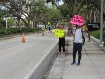 Lopende Inspiratie bij de Marathon van Miami Stock Foto's