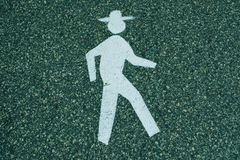 Lopende mens met hoed Stock Afbeelding