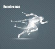 Lopende Mens, vliegende bliksem, vectorillustratie Royalty-vrije Stock Fotografie