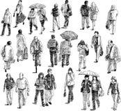 Lopende mensen Stock Foto