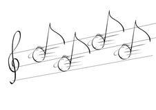 Lopende muziek Stock Illustratie