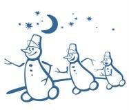 Lopende sneeuwballen royalty-vrije illustratie