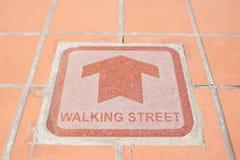 Lopende straat Stock Afbeeldingen