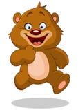 Lopende teddybeer Stock Afbeelding