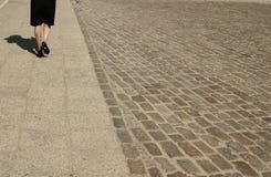 Lopende vrouw Stock Foto