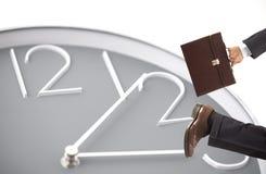 Lopende zakenman Royalty-vrije Stock Foto's