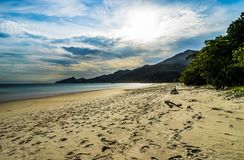 LopesMendes strand i Ilha stora söder av Rio de Janeiro Brazil Royaltyfria Foton