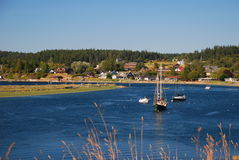 Lopez Island village, Washington, USA. San Juan islands , Lopez Island village, Washington, USA stock image