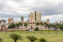 Lopez presidential palace. Asuncion, Paraguay capital Stock Image