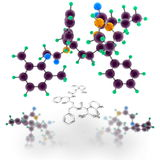 Lopinavir molecule structure Royalty Free Stock Photos