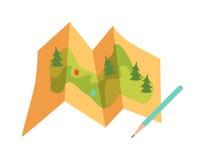 Loppöversiktsvektor vektor illustrationer