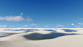 Lopp bland den unika vita sandBrasilien öknen