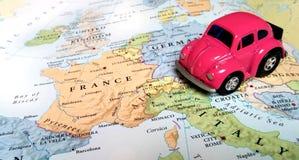 Lopp Europa - Italien, Frankrike arkivbild