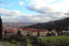 Lopp för övervakning för Prague Europa siktsturism Arkivbild