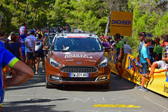 Lopp 2017 för AG2R-LaMondiale Team Car At La Vuelta España cirkulering arkivfoto
