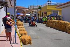 Lopp för Algueña motorcykelgata Arkivbilder