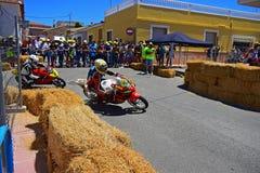 Lopp för Algueña motorcykelväg Arkivfoton