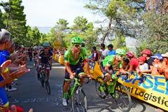 Lopp för Cannondale Drapac LaVuelta España cirkulering fotografering för bildbyråer